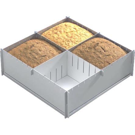 Top Kitchen Gadgets presents Alan Silverwood Multisize Square Cake Tin